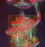 Burbujas de aire del vaso del partido Imagen de archivo