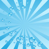 Burbujas de aire en agua en fondo brillante. Vector Fotos de archivo