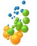 Burbujas de cristal anaranjadas Fotografía de archivo libre de regalías