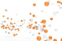 Burbujas de gas anaranjadas y fondos aislados Foto de archivo libre de regalías