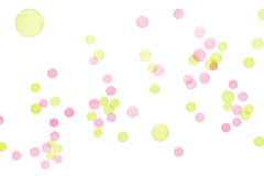 Burbujas de gas anaranjadas y fondos aislados púrpura Fotos de archivo libres de regalías