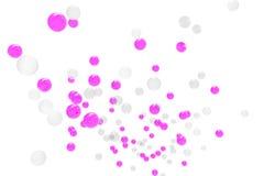 Burbujas de gas púrpuras y fondos aislados Imágenes de archivo libres de regalías