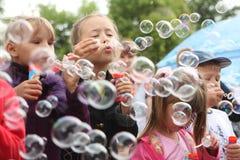 Burbujas de jabón Foto de archivo libre de regalías