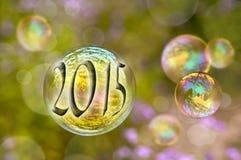 Burbujas de jabón 2015 Foto de archivo libre de regalías