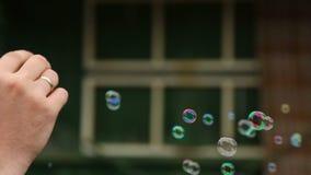 Burbujas de jabón almacen de video