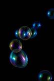 Burbujas de jabón con la reflexión del arco iris Imagen de archivo