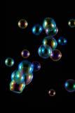 Burbujas de jabón con la reflexión del arco iris Fotografía de archivo libre de regalías