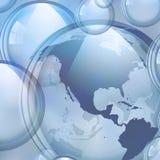 Burbujas de jabón del vector foto de archivo libre de regalías