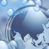 Burbujas de jabón del vector fotos de archivo