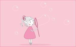 Burbujas de jabón que soplan Fotos de archivo libres de regalías