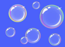 Burbujas de jabón transparentes Imagenes de archivo