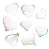 Burbujas de jabón en forma de corazón Imagenes de archivo