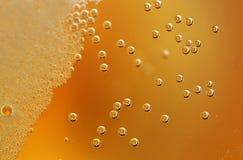 Burbujas de la cerveza Imagen de archivo