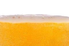 Burbujas de la cerveza. Fotografía de archivo libre de regalías