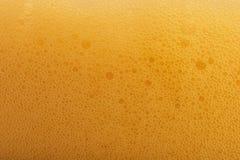 Burbujas de la cerveza Fotografía de archivo libre de regalías