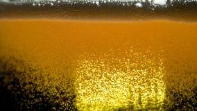 Burbujas de la cerveza del juego metrajes