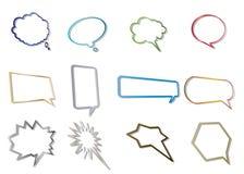 Burbujas de la charla Imagen de archivo