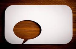 Burbujas de la charla Imagen de archivo libre de regalías