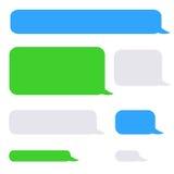 Burbujas de la charla del SMS del teléfono del fondo Foto de archivo libre de regalías