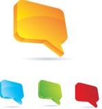 Burbujas de la charla o del blog. Imagen de archivo