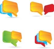 Burbujas de la charla o del blog. Imagen de archivo libre de regalías
