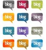 Burbujas de la charla o del blog. Fotos de archivo libres de regalías