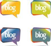Burbujas de la charla o del blog. Fotografía de archivo