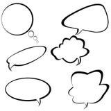 Burbujas de la charla y bulbos de la idea Fotografía de archivo libre de regalías