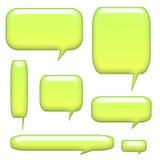 burbujas de la comunicación del encabezamiento 3D stock de ilustración
