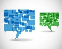 Burbujas de la comunicación empresarial Imagen de archivo libre de regalías