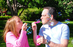 Burbujas de la familia Fotografía de archivo libre de regalías