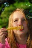 Burbujas de la muchacha Imagen de archivo libre de regalías