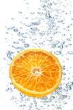 Burbujas de la naranja y de aire Fotos de archivo libres de regalías