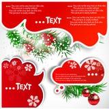Burbujas de la Navidad para el discurso Imagenes de archivo