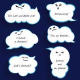 Burbujas de la nube de la historieta Foto de archivo