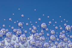 Burbujas de las propiedades inmobiliarias Foto de archivo