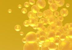 Burbujas de oro Fotos de archivo
