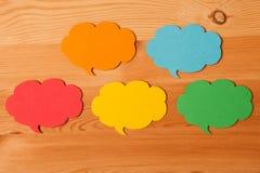 burbujas de papel coloridas del discurso Imagenes de archivo