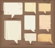 Burbujas de papel del discurso Fotos de archivo