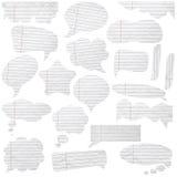 Burbujas de papel del discurso Imagen de archivo libre de regalías