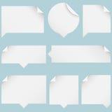 Burbujas de papel del discurso Fotografía de archivo libre de regalías