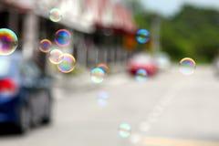 Burbujas de un jabón Imágenes de archivo libres de regalías