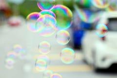 Burbujas de un jabón Foto de archivo