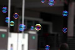 Burbujas de un jabón Fotos de archivo