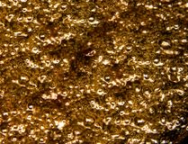 Burbujas del aceite de ebullición fotos de archivo