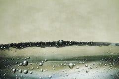 Burbujas del agua fotos de archivo