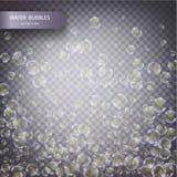 Burbujas del agua aisladas Fotos de archivo