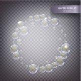 Burbujas del agua aisladas Foto de archivo libre de regalías
