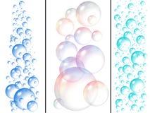 Burbujas del agua y de jabón Fotografía de archivo