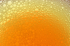 Burbujas del amarillo anaranjado Imágenes de archivo libres de regalías